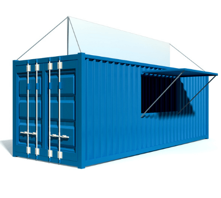 Example of container kitchen