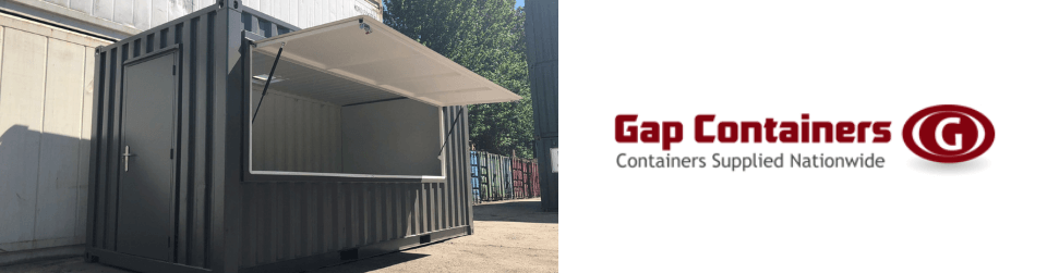 Shipping container conversions at Gap Containers
