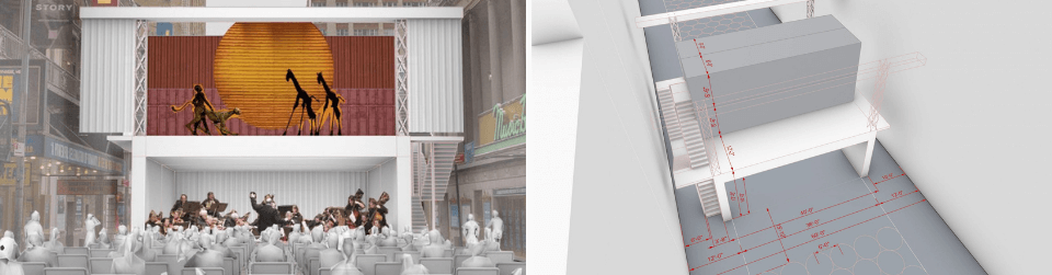 Plans for container theatre in New York