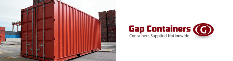 Low cost shipping container available at Gap Containers