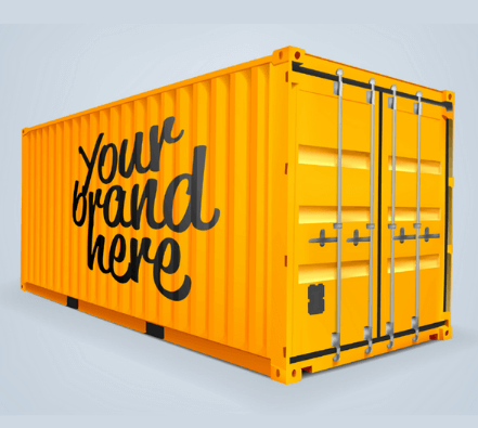 Shipping container marketing