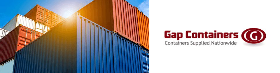 Shipping containers available at Gap Containers